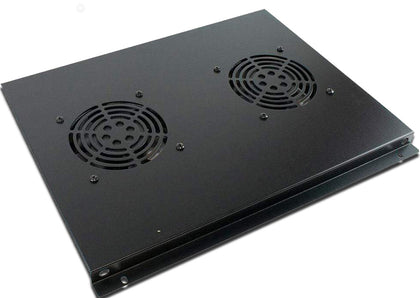 2 Way Roof Mount Fan Tray for 600mm deep Eco NetCab & ValuCab Floor Cabinets - Netbit UK