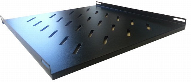 Fixed Vented Shelf for 1200mm Deep Floor Standing Eco NetCab/ValuCab Data Cabinets - 489x900x15mm
