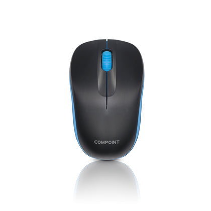 Wireless Mouse - Black / Blue - 2.4Ghz - Netbit UK