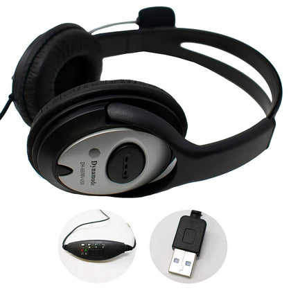 Stereo Headset & Microphone - Full Ear - USB - Netbit UK