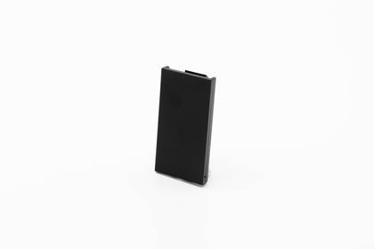 50mm x 25mm Half Blank for Euro Module Faceplates - Black - Netbit UK