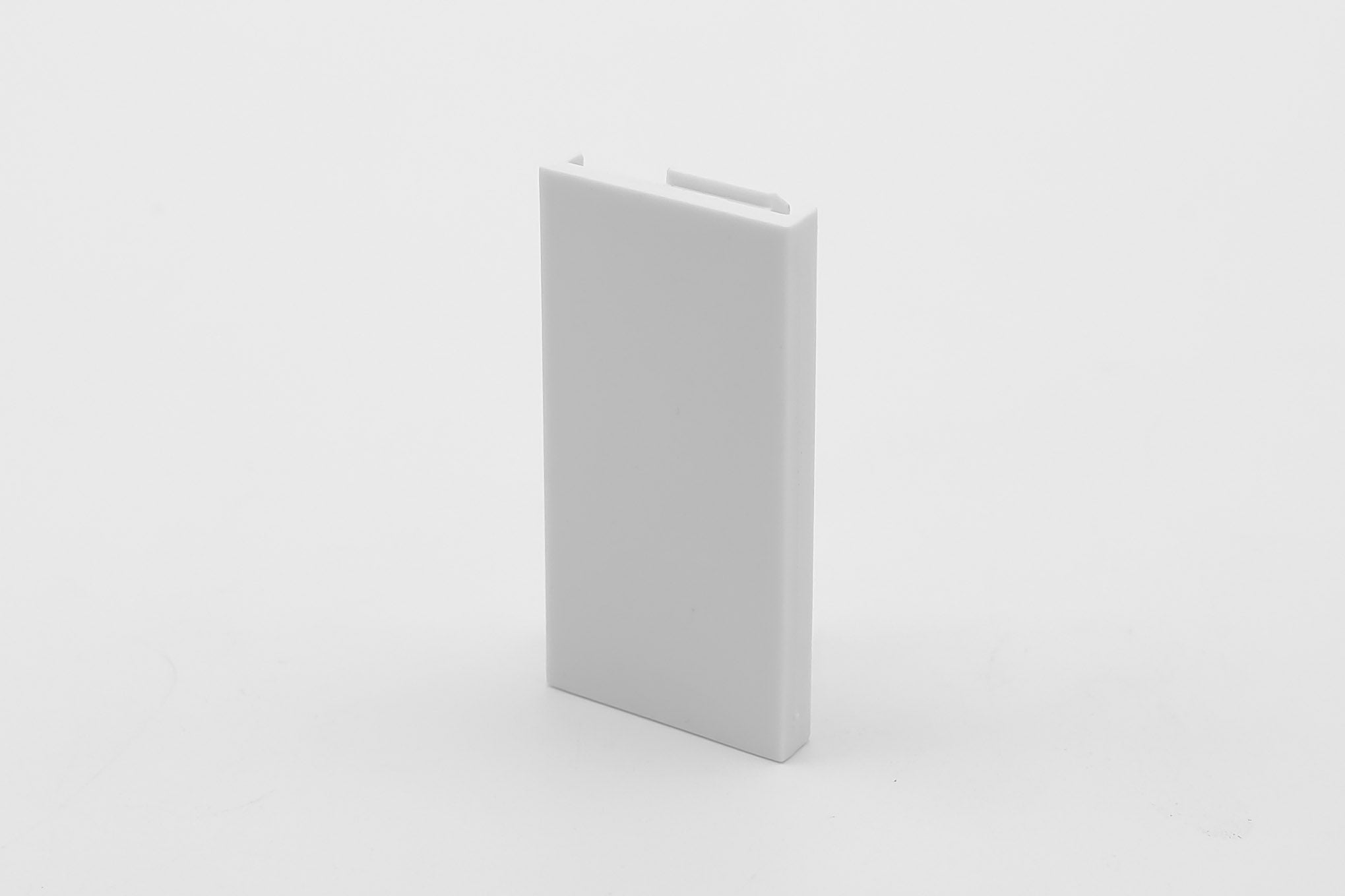 50mm x 25mm  Half Blank for Euro Module Faceplates - White