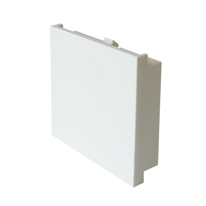50mm x 50mm Single Gang Blank for Face Plate - White - Netbit UK