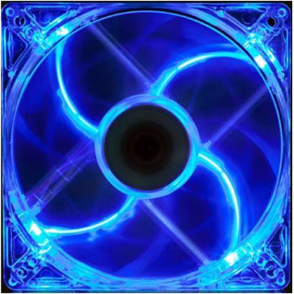 140mm LED Case Fan, 4-Pin/3-Pin - Blue - Netbit UK