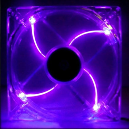 140mm LED Case Fan, 4-Pin/3-Pin - Purple - Netbit UK