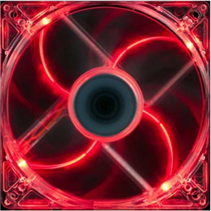 140mm LED Case Fan, 4-Pin/3-Pin - Red - Netbit UK