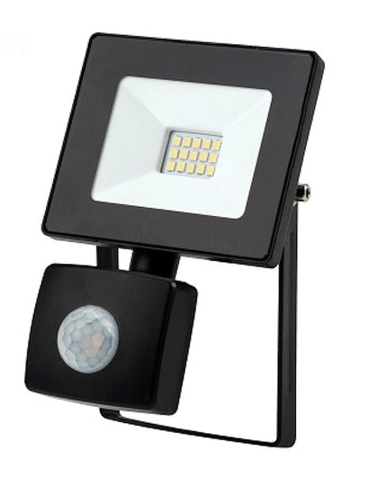 10W LED Flood Light with Sensor - 800LM / Lumens (IP44) 2835 - Netbit UK