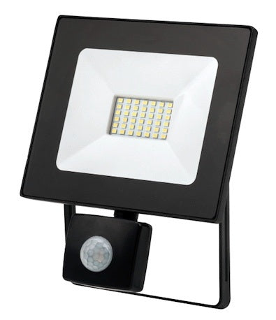 30W LED Flood Light with Sensor - 2400LM / Lumens (IP44) 2835 - Netbit UK