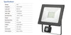 50W LED Flood Light with Sensor - 4000LM /  Lumens (IP44) 2835