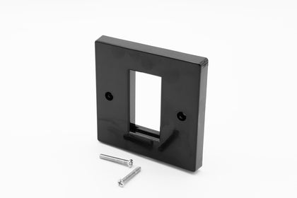 Low Profile Single Gang (1 Slot) Faceplate for 1 x Euro Modules - Black - Netbit UK