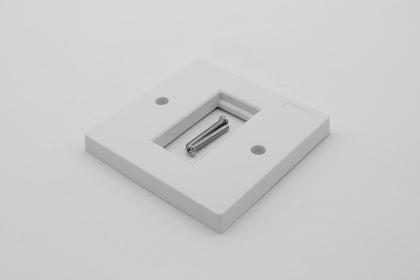Low Profile Single Gang (1 Slot) Faceplate for 1 x Euro Modules - White - Netbit UK