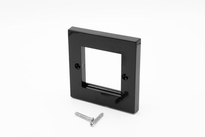 Low Profile Single Gang (2 Slot) Faceplate for 2 x Euro Modules - Black - Netbit UK