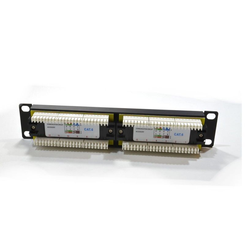 "1U 10"" 12 Port CAT6 SOHO Patch Panel (UTP)"