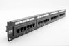 "1U 19"" 24 Port CAT6 Network RJ45 Patch Panel (UTP) 110 w/ Back Bar"