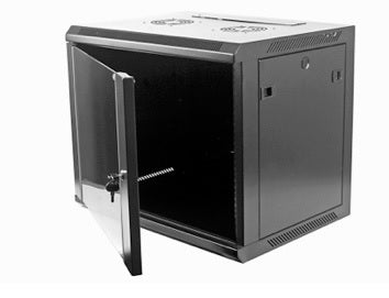 12U WALL CABINET 600 x 600 (BLACK) - Netbit UK