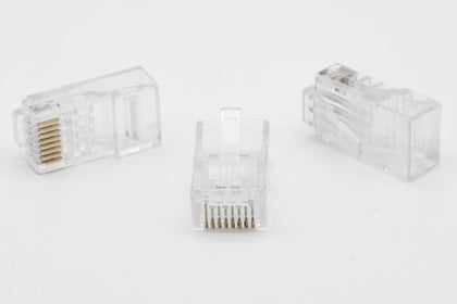 RJ45 Network Connector Plug CAT6 Crimp End *Bag of 100* - Netbit UK