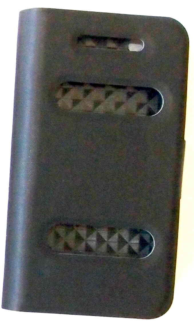 A430 - PU Case with Scuttle Window for iPhone 4