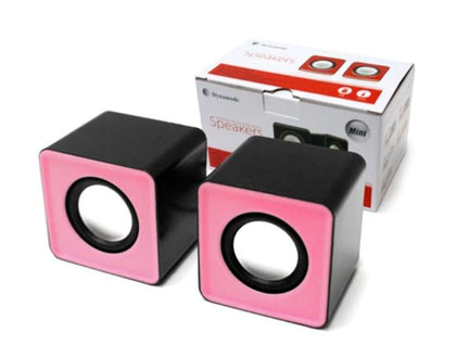 2 Channel Mini USB Powered Speakers - Pink Fascia