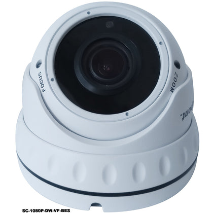 b-secure 2.0MP 4in1 White Dome CCTV Camera - Varifocal