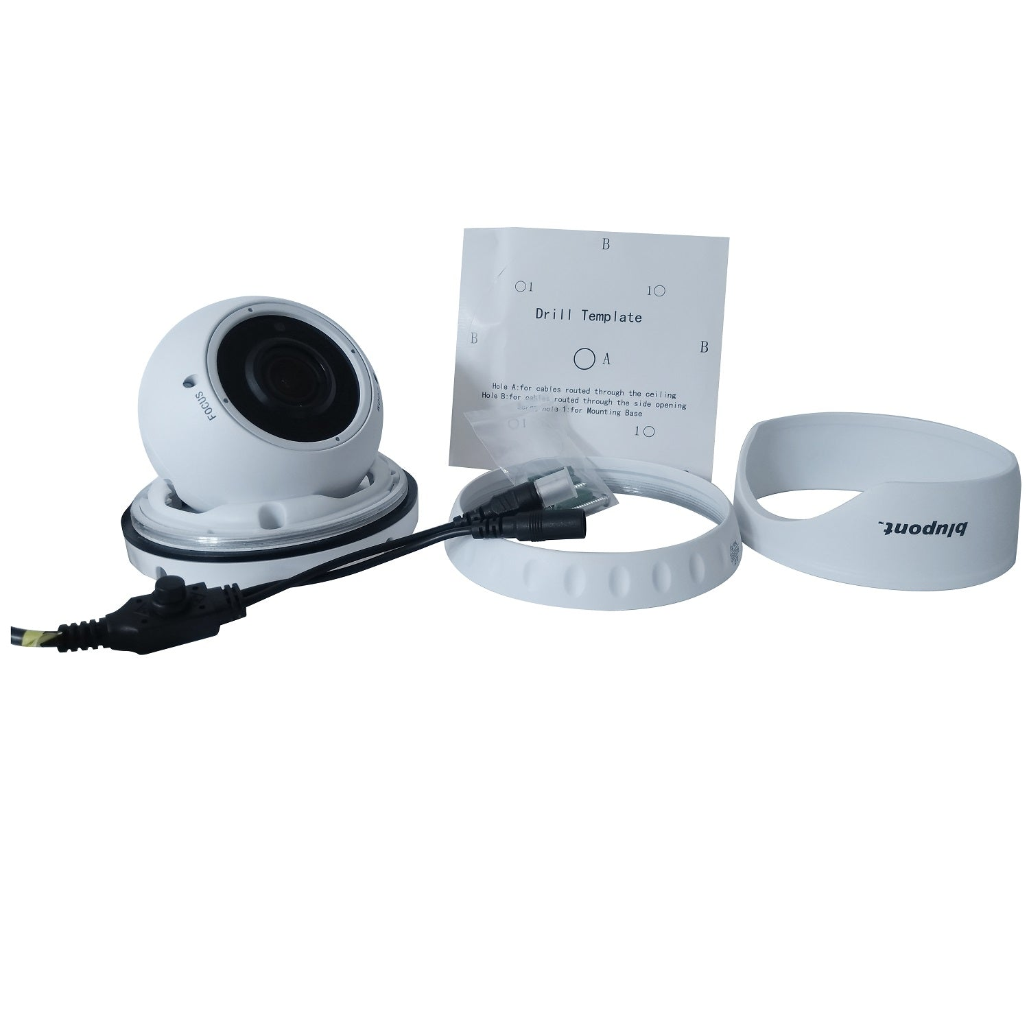 b-secure 2.1MP 1080P/960H 4in1 White Dome CCTV Camera - Varifocal