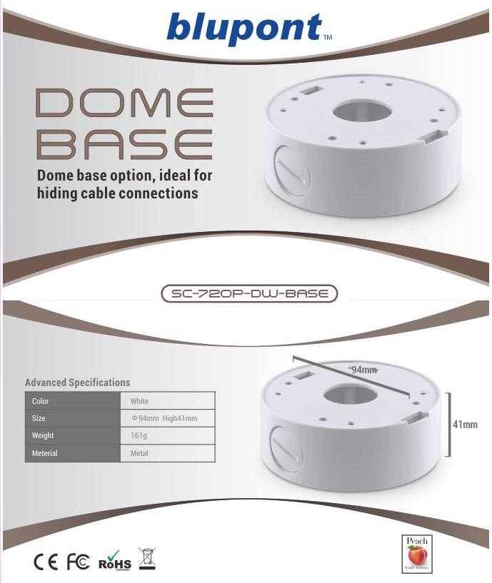Extension ring for Fixed Lens White Dome Camera