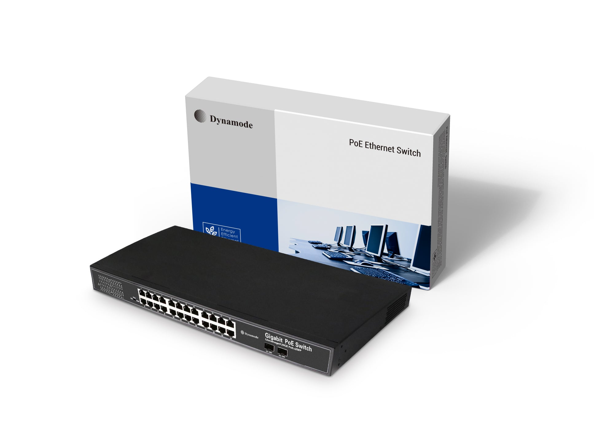 24 Port 10/100/1000 Gigabit Rackmount PoE Switch +2 SFP Uplink (1U)