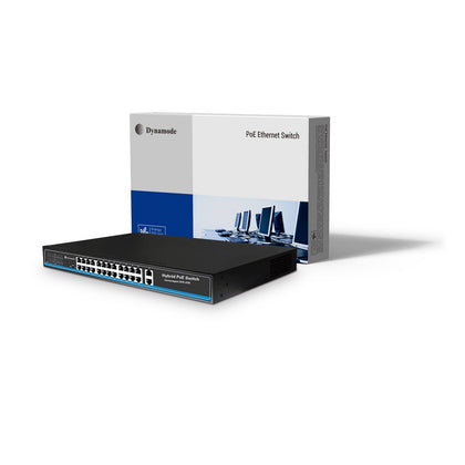 24 Port Fast Ethernet 10/100 Rackmount PoE Switch + 2 Gigabit Uplinks