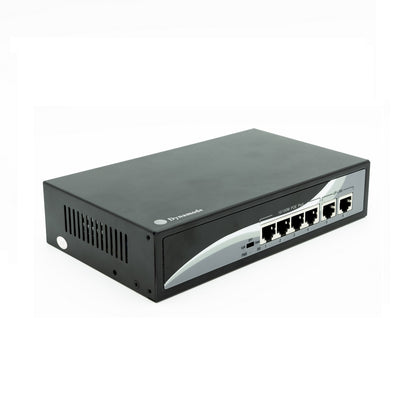 4 Port Fast Ethernet 10/100 Desktop PoE Switch + 2 Uplinks