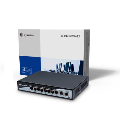 8 Port Fast Ethernet 10/100 Desktop PoE Switch + 2 Uplinks