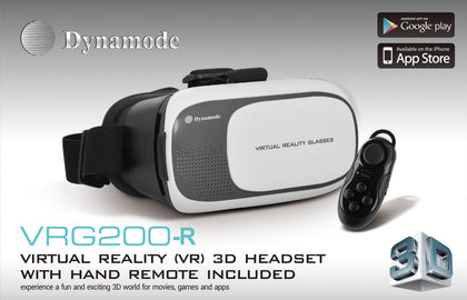 VR Headest + Remote - 3D Virtual Reality using your phone - Netbit UK