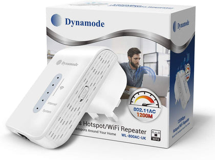 Dynamode - 2.4/5GHz AC WiFi Extender | Access Point | Signal Booster for Home & Office (1200MBPs)