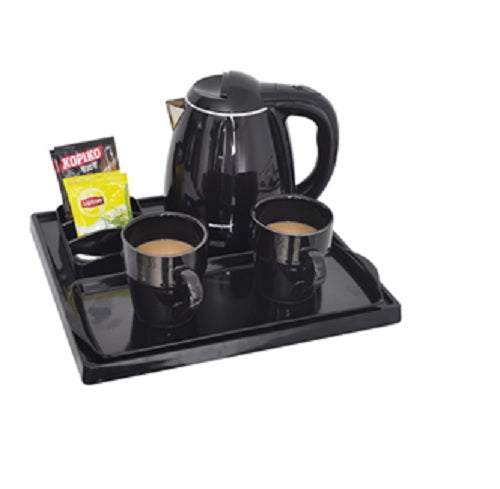Electric Kettle Tray Set A-H2002 Black, Honeyson - Fivebutlers
