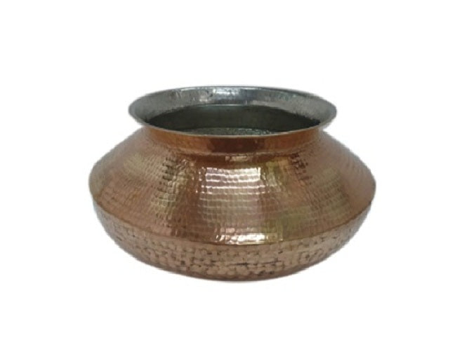 Copper Tin Plated Heavy Cooking Pot, The Ancient Village - Fivebutlers