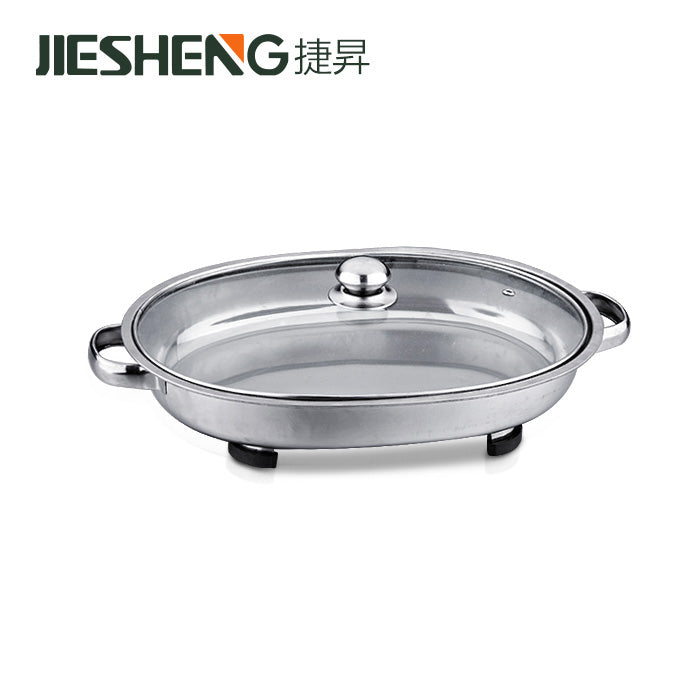 Glass Lid Oval Buffet Server ,  Model Number: Kcl002O, Jiesheng - Fivebutlers