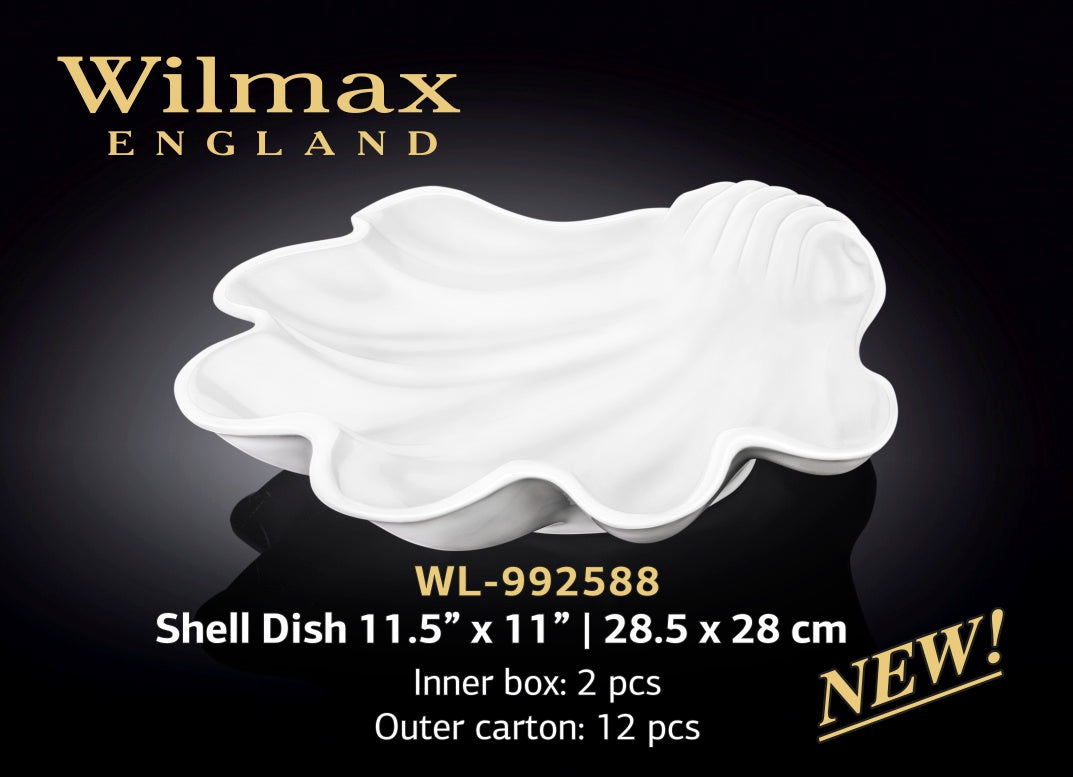 "Shell Dish 11.5"" X 11"" 