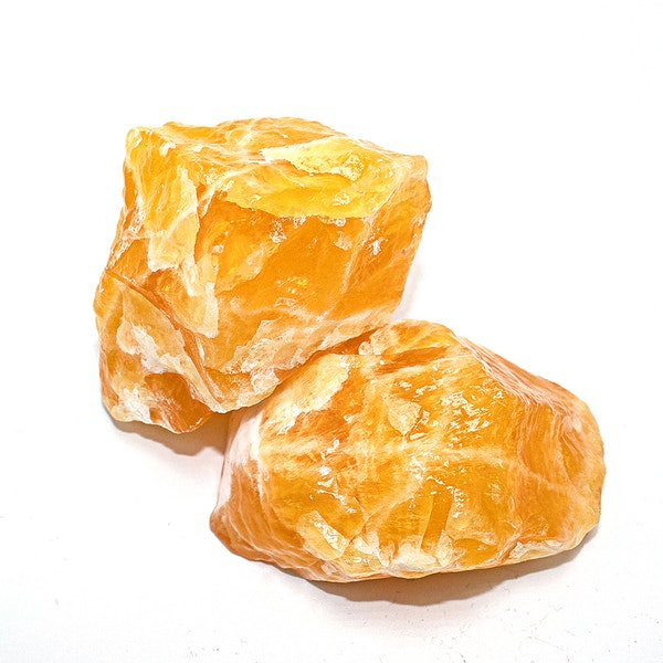 Orange Calcite Duo