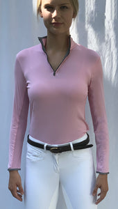 Python Print Trim Classic Wicking Shirt in Pink Glow