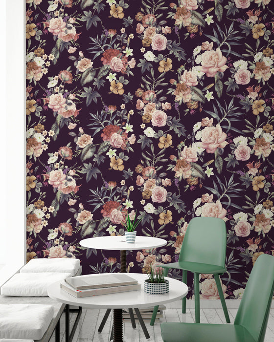 Floral Wallpaper - Dark Floral Peel