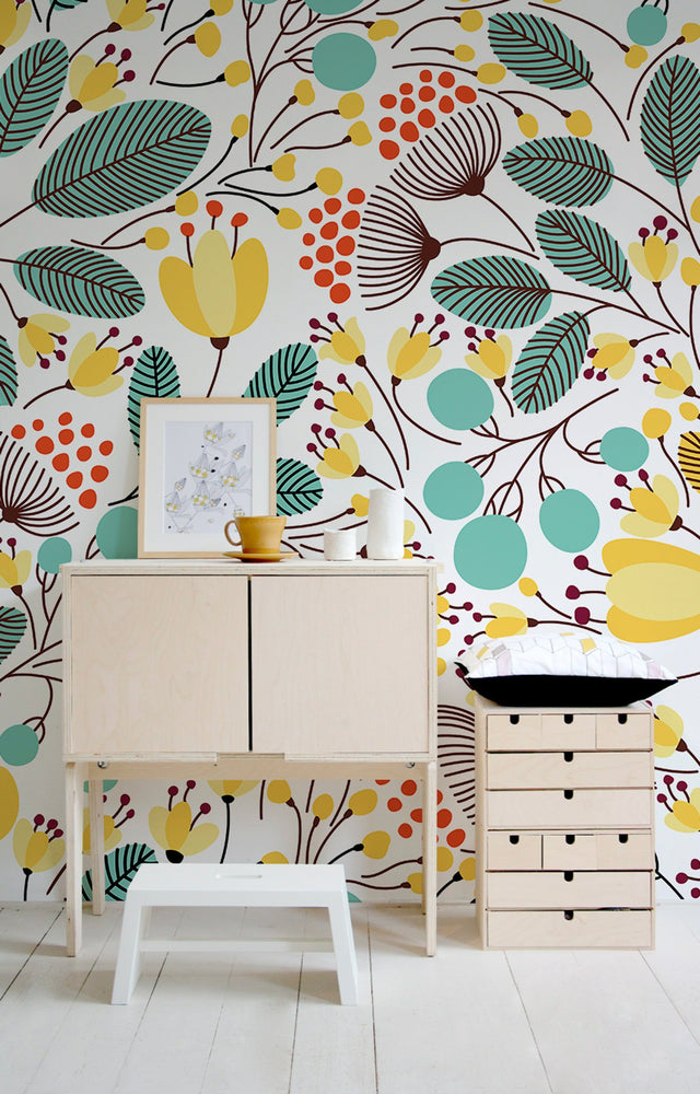 Floral Wallpaper - Nursery Wallpaper