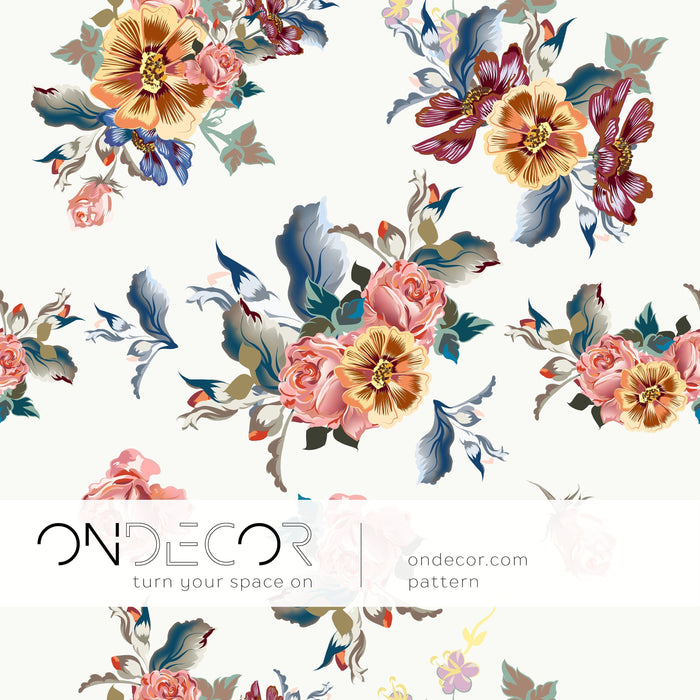 Floral Wallpaper - Watercolor Blooms Wallpaper