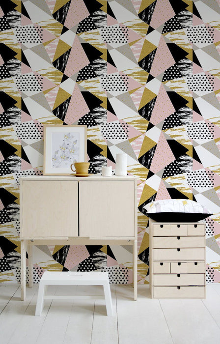 Geometric Wallpaper - Geometric Retro Wallpaper