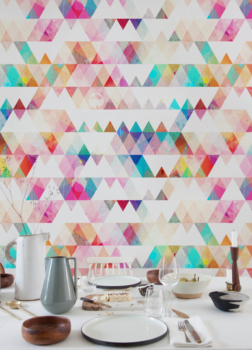 Geometric - Watercolor Wallpaper