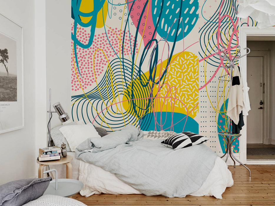 Removable Wallpaper Peel and Stick Wallpaper Wall Paper Wall Mural - Abstract Pop Wallpaper  - B093