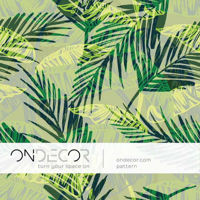 Tropical Wallpaper - Exotic Palm Leaves