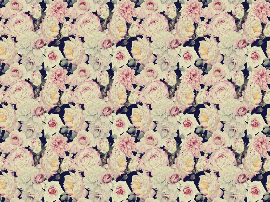 Vintage Wallpaper - Dark Floral Wallpaper