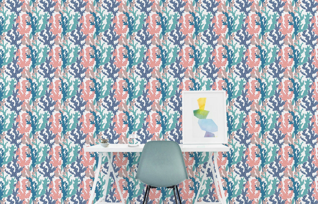 Watercolor Wallpaper - Coral Wallpaper