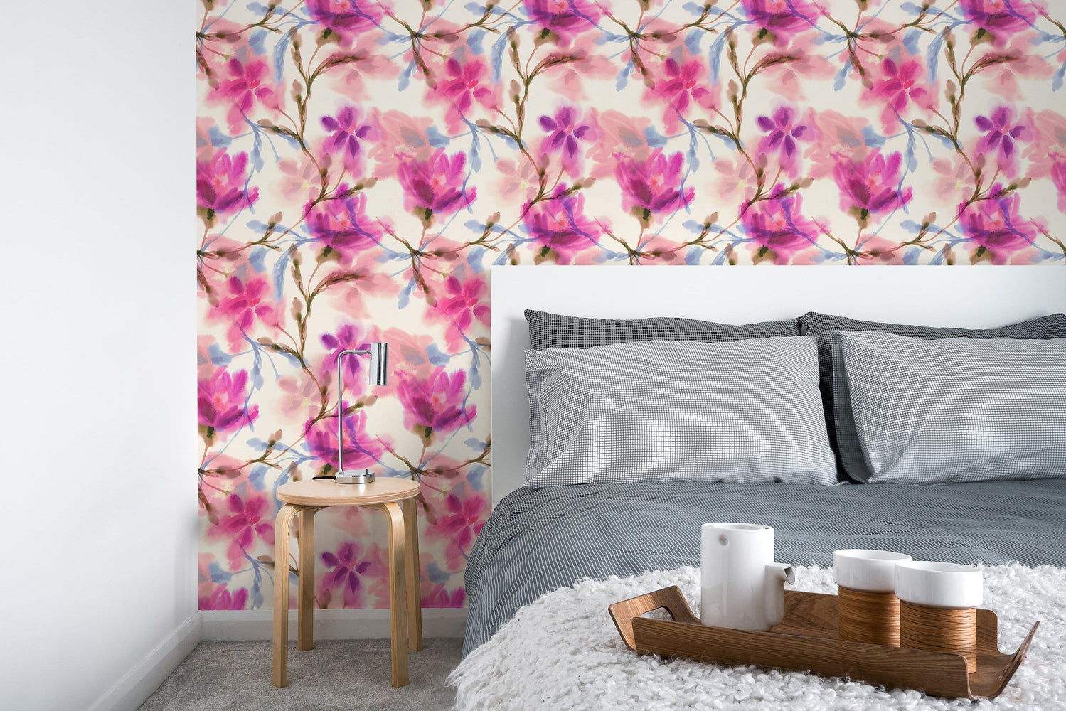 Watercolor Floral Wallpaper Ondecor Com