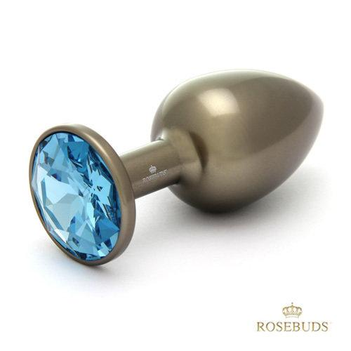 Rosebuds Grey Aluminium Medium butt plug