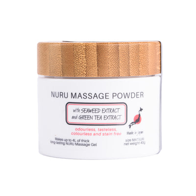Nuru Massage Powder Matsuri Makes 4L with Seaweed and Green Tea Extract - Made in JAPAN