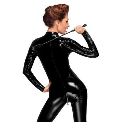 DECADENCE Long PVC Overall with 3-Way Zipper